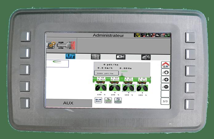 écran console planteuse agronomic