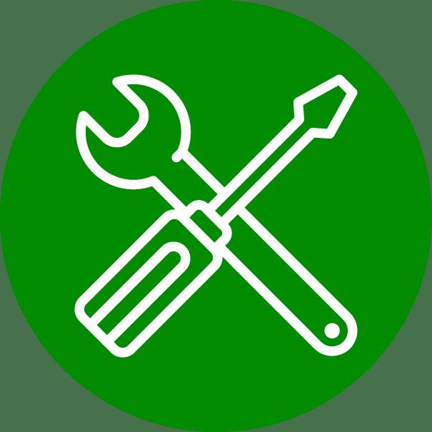 pictogramme clé à molette et tournevis