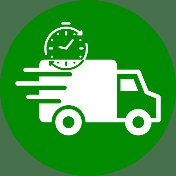 pictogramme camion avec chronomètre