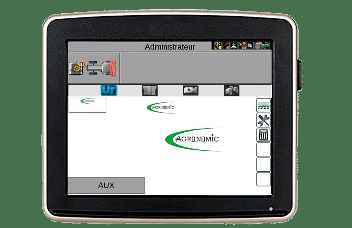 écran certifié isobus console planteuse agronomic